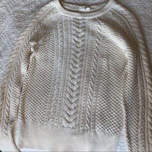 100% Cotton Cream Gap Sweater